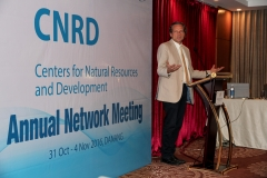 Prof. Lars Ribbe, Director ITT and CNRD exceed project lead welcomes the guests of the network meeting.